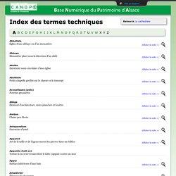 Index des termes techniques
