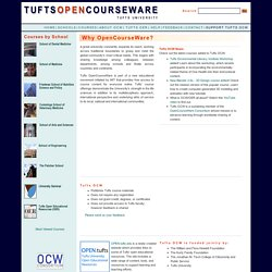 Tufts University's OpenCourseware