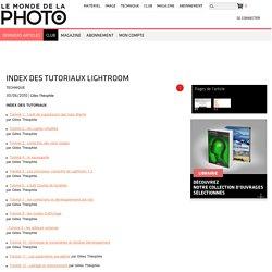 Index des tutoriaux Lightroom