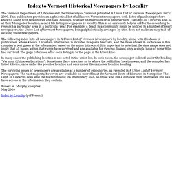 GSV: Index to VT Newspapers