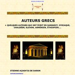 Oeuvres complètes d'auteurs grecs (not. Philosophes)