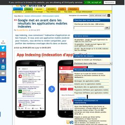 App Indexing Google (indexation d'application mobile)