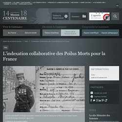 L'indexation collaborative des Poilus Morts pour la France