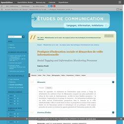 Pratiques d'indexation sociale et démarches de veille informationnelle