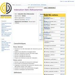 Indexation libre (folksonomie)