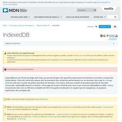 IndexedDB - Référence Web API