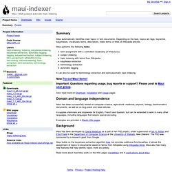 maui-indexer - Maui - Multi-purpose automatic topic indexing