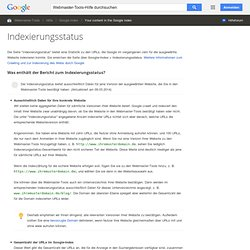 Indexierungsstatus