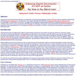 Indexing Digital (Electronic) Documents