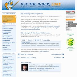 SQL Indexing tutorial for MySQL, Oracle, SQL Server, PostgreSQL, ?