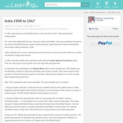 India 1900 to 1947