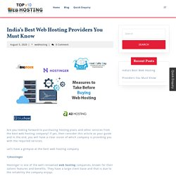 India's Best Web Hosting Providers You Must Know