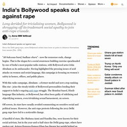India's Bollywood speaks out against rape