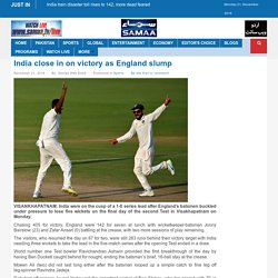 India close in on victory as England slump