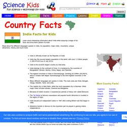 Fun India Facts for Kids - Interesting Information about India