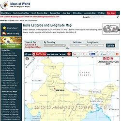 India Latitude and Longitude , latitude and longitude of india