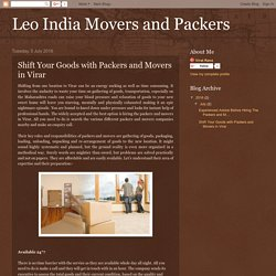 Shift Your Goods with Packers and Movers in Virar