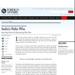 India's Polio Win
