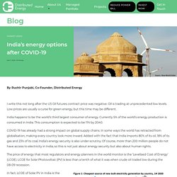 India's Renewable Energy Options After COVID-19