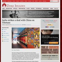 India strikes a deal with China on Tibetans