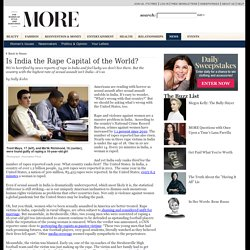 Is India the Rape Capital of the World?