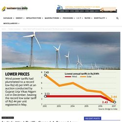 India's Wind Tariffs Grazed A Record Low In The Recent Auction Conducted By State-Run Solar Energy Corporation of India