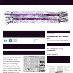 Indian Magna Carta Writ In Wampum Belts - THE TWO ROW WAMPUM TREATY OF ALLIANCETHE TWO ROW WAMPUM TREATY OF ALLIANCE