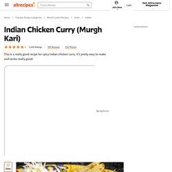 Indian Chicken Curry (Murgh Kari) Recipe