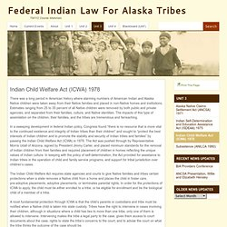 Indian Child Welfare Act (ICWA) 1978 | TM112