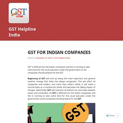 GST For Indian Companies