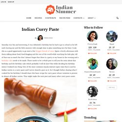 Indian Curry Paste