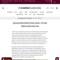 Online Store for ethnic dress