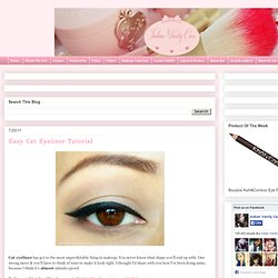 Indian Vanity Case: Easy Cat Eyeliner Tutorial - StumbleUpon