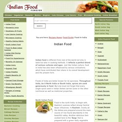 Indian Food - Food In India - Foods Of India