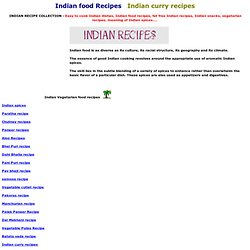 Indian food recipes, indian currey recipes