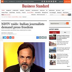 NDTV raids: Indian journalists demand press freedom