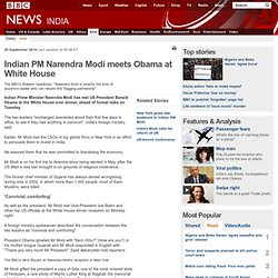 Indian PM Narendra Modi meets Obama at White House