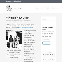 """Indian New Deal"" – Pieces of History"