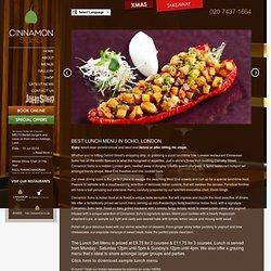 Indian Restaurant Soho Lunch - Cinnamon Soho London