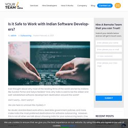Is it Safe to Work with Indian Software Developers?