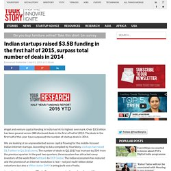 Indian startups raised $3.5B funding in the first half of 2015