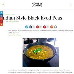 Indian Style Black Eyed Peas – Honest Cooking