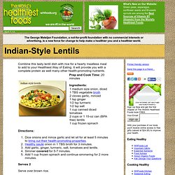 Indian-Style Lentils
