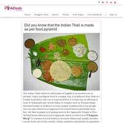Did you know that the Indian Thali is made as per food pyramid - Pinkdesk.org