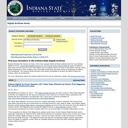 Indiana State Digital Archives