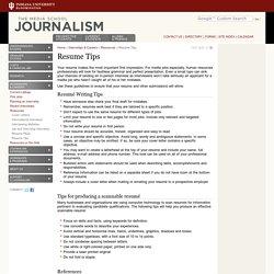 Resume Tips » Indiana University Journalism