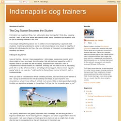 The Dog Trainer Becomes the Student