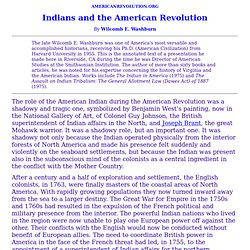 Indians and the American Revolution