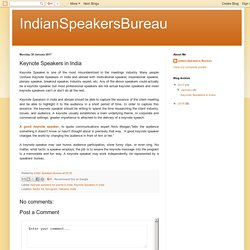 IndianSpeakersBureau: Keynote Speakers in India