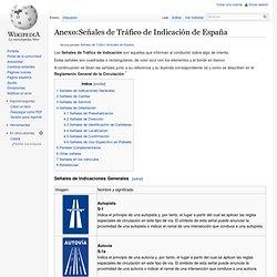 Señales de tráfico Españoles